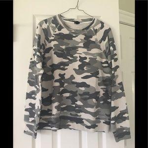 Jcrew camo sweatshirt